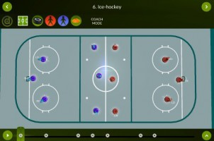 Ice Hockey – Coach mode – landscape